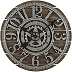 Sterling & Noble™ 23.5-Inch Shiplap Farmhouse Wood Wall Clock