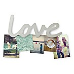 "Umbra® ""LOVE"" 5-Photo Clip in Plated Nickel"