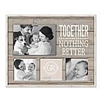 "Grasslands Road ""Together"" Shiplap 4-Photo Clip Collage Picture Frame"