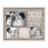 "Grasslands Road ""Together"" Shiplap 4-Photo Clip Collage Picture Frame"