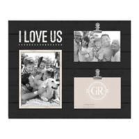Grasslands Road 14.9-Inch x 11.9-Inch I Love Us Shiplap Wood Collage Frame in Black