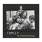 "Grasslands Road® ""Family is Everything"" 4-Inch x 6-Inch Frame in Black"