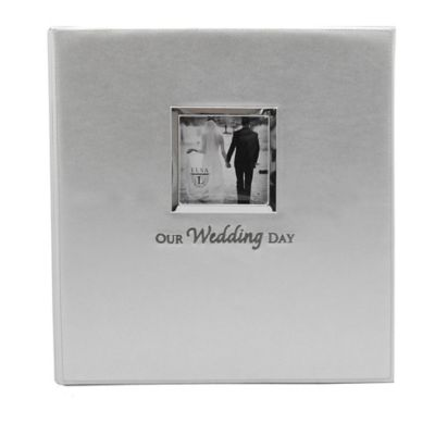 Elsa L Our Wedding Day Frame Cover Faux Leather Photo Album