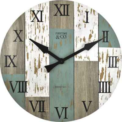 FirsTime® Timberworks 27-Inch Distressed Wall Clock