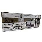 "Sweet Bird & Co. ""Mr. & Mrs."" 3-Photo Collage Reclaimed Wood Clip Picture Frame"