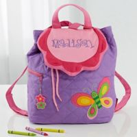 Butterfly Embroidered Kid's Sidekick Backpack by Stephen Joseph