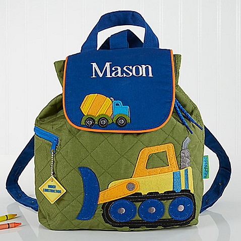 Construction Embroidered Kid S Backpack By Stephen Joseph