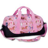 Olive Kids Horses Overnighter Duffel Bag