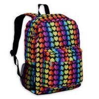 Wildkin Rainbow Hearts Crackerjack Backpack in Black