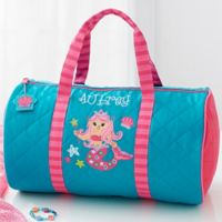 Stephen Joseph® Mermaid Embroidered Duffel Bag in Teal