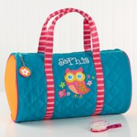 Stephen Joseph® Lovable Owl Embroidered Duffel Bag in Teal
