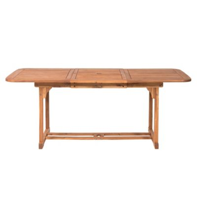 Forest Gate Eagleton Patio Acacia Wood Butterfly Patio Table In Brown