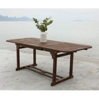 Forest Gate Eagleton Patio Acacia Wood Butterfly Patio Table in Dark Brown
