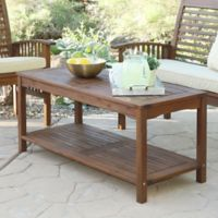 Forest Gate Eagleton Patio Acacia Wood Outdoor Coffee Table in Dark Brown