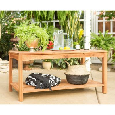 Walker Edison Acacia Wood Outdoor Coffee Table In Brown Part 70