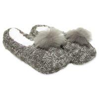 Women's Knit Slipper Socks in Grey