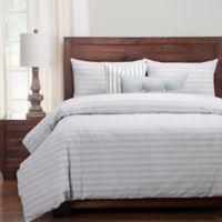 SIScovers® Modern Farmhouse Homestead California King Duvet Cover Set in Blue/Off White