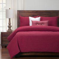 Siscovers® Modern Farmhouse King Duvet Cover Set in Red/Beige