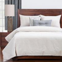 Siscovers® Modern Farmhouse King Duvet Cover Set in Beige/Blue
