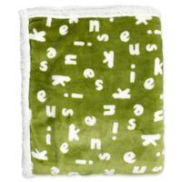 Kensie Mika Reversible Throw Blanket in Pea Green