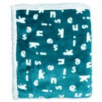 Kensie Mika Reversible Throw Blanket in Light Blue