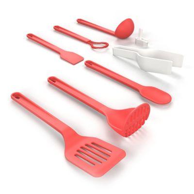 Amazing Venn 8 Piece Kitchen Utensil Starter Set In Red
