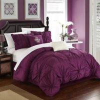 Chic Home Hilton 6-Piece King Comforter Set in Purple