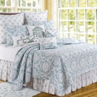 Providence Chambray Reversible King Quilt in Blue
