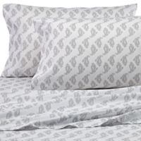 Peri Home Paisley Queen Sheet Set in Grey