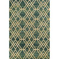 KAS Barcelona Moderne 2-Foot 7-Inch x 4-Foot 11-Inch Accent Rug in Teal