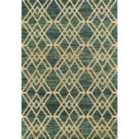 KAS Barcelona Moderne 7-Foot 10-Inch x 11-Foot 2-Inch Area Rug in Teal