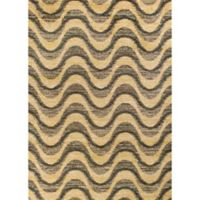 KAS Barcelona Isla 2'7 x 4'11 Accent Rug in Grey/Sand