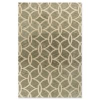 KAS Mission Trellis Circles 5-Foot x 7-Foot Shag Area Rug in Slate