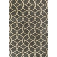 KAS Mission Trellis Circles 9-Foot x 13-Foot Shag Area Rug in Grey