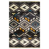 KAS Mission Diamond Tribal 5-Foot x 7-Foot Shag Area Rug in Midnight