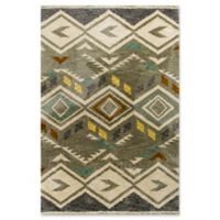 KAS Mission Diamond Tribal 5-Foot x 7-Foot Shag Area Rug in Grey