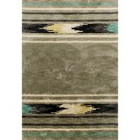 KAS Mission Tribal 5-Foot x 7-Foot Shag Area Rug in Silver