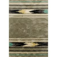 KAS Mission Tribal 7-Foot 6-Inch x 9-Foot 6-Inch Shag Area Rug in Sage