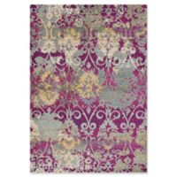 KAS Reina Damask 3-Foot 3-Inch x 4-Foot 11-Inch Accent Rug in Fuchsia