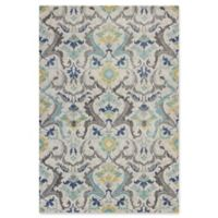 KAS Reina Formal Damask 3-Foot 3-Inch x 4-Foot 11-Inch Accent Rug in Grey