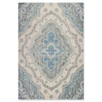 KAS Reina Large Medallion 5-Foot 3-Inch x 7-Foot 7-Inch Area Rug in Grey/Blue