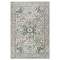 KAS Reina Vintage Medallion 3-Foot 3-Inch x 4-Foot 11-Inch Accent Rug in Grey/Blue