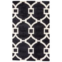 Jaipur Regency 2-Foot x 3-Foot Accent Rug in Black/White