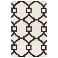 Jaipur Regency 2-Foot x 3-Foot Area Rug in White/Black