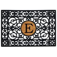 "Home & More Monogram Letter ""E"" 24-Inch x 36-Inch Door Mat"