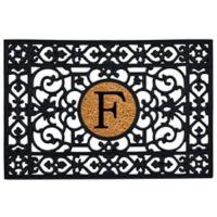 """Home & More Monogram Letter """"F"""" 24-Inch x 36-Inch Door Mat"""