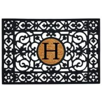 "Home & More Monogram Letter ""H"" 24-Inch x 36-Inch Door Mat"