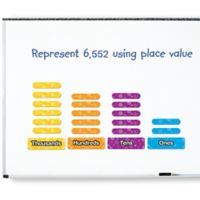 Learning Resources® 18-Piece Giant Magnetic Place Value Set