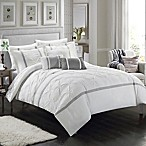 Chic Home Plymouth 10-Piece King Comforter Set in White