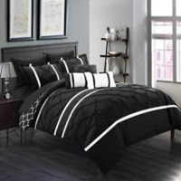 Chic Home Plymouth 10-Piece King Comforter Set in Black